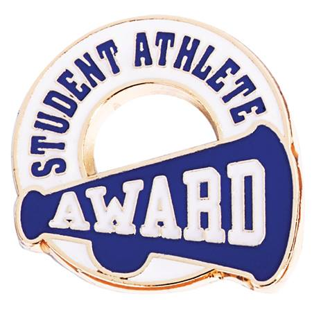 Athletics Award Pin - Blue Student Athlete