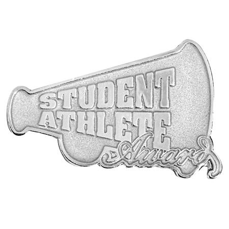 Athletics Award Pin - Silver Student Athlete Megaphone