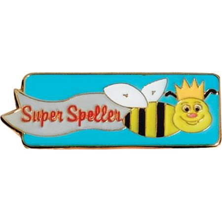 Spelling Award Pin - Super Speller Bee