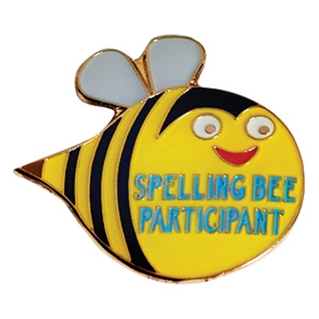 Spelling Award Pin - Spelling Bee Participant