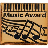 Music Award Pin - Gold Piano
