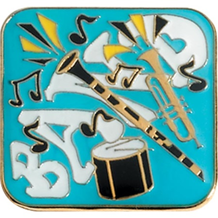 Band Award Pin - Instruments on Turquoise