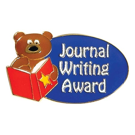 Writing Award Pin - Journal Writing Award Bear