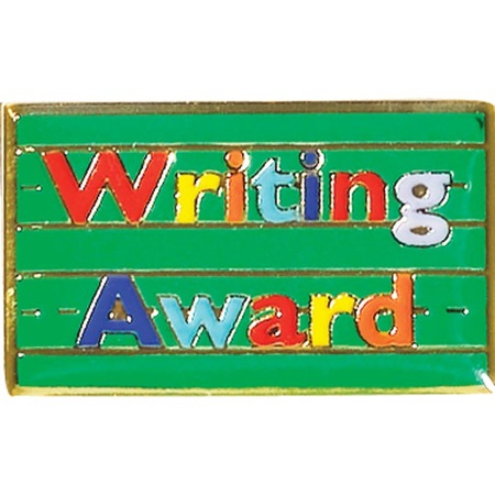 Writing Award Pin - Writing Paper