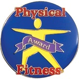 Physical Fitness Award Pin - Body on Blue
