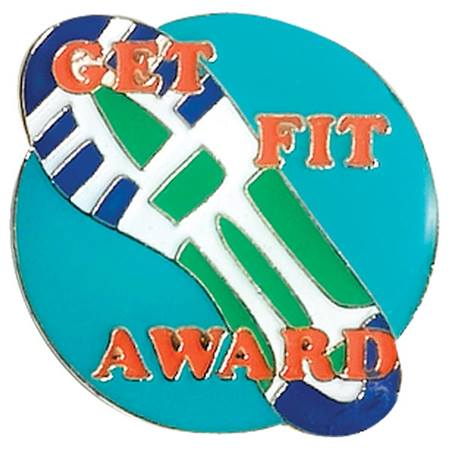 Physical Fitness Award Pin - Get Fit Sneaker