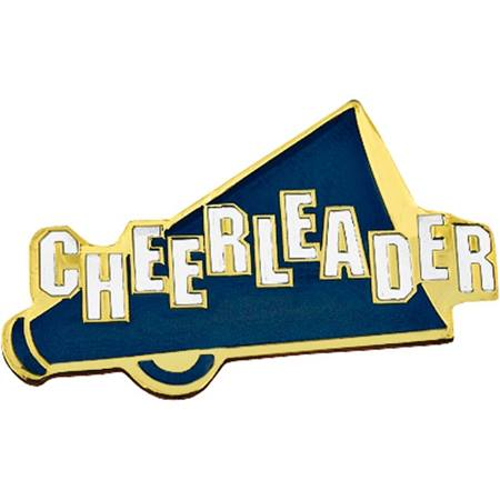 Cheerleader Award Pin