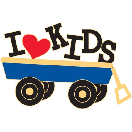 Teacher Award Pin - I Love Kids Wagon