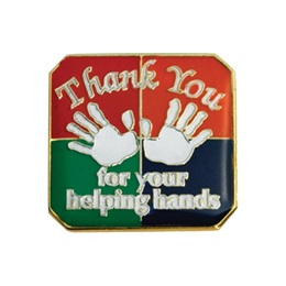Appreciation Award Pin  - Thank You For Your Helping Hands