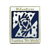 Volunteer Award Pin - Touching the World