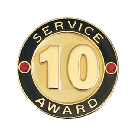 Service Award Pin - 10 Years