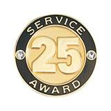 Service Award Pin - 25 Years