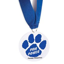 Custom Medallion - Blue Paw Power