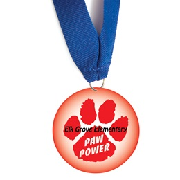 Custom Medallion - Red Paw Power