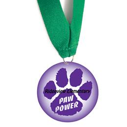Custom Medallion - Purple Paw Power