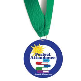 Custom Medallion - Perfect Attendance/Books