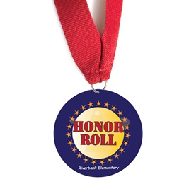 Custom Medallion - Red, Gold, and Blue Honor Roll