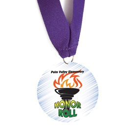 Custom Medallion - Honor Roll Torch