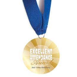 Custom Medallion - Excellent Attendance Award
