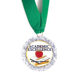 Custom Medallion -  Apple/Books Academic Excellence