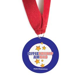 Custom Medallion - Red, White, and Blue Citizenship Award