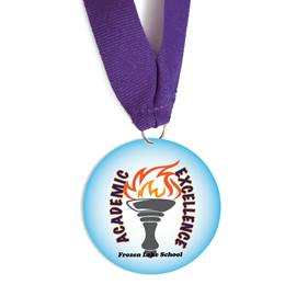 Custom Medallion - Academic Excellence Torch