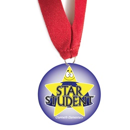 Custom Medallion - Star Student With Gold Stars