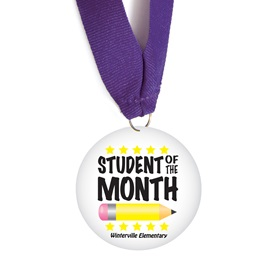 Custom Medallion - Student of the Month Pencil