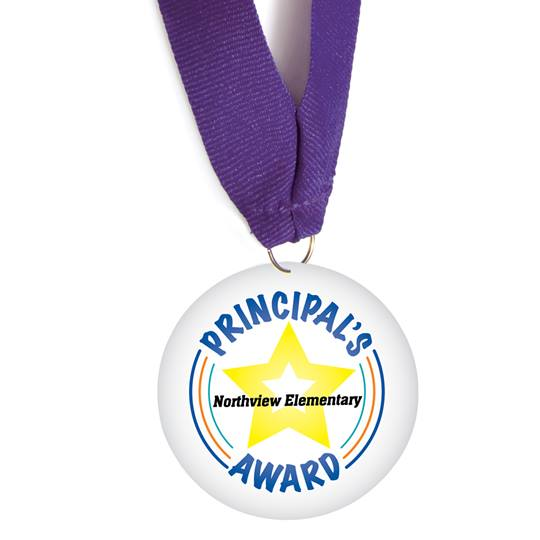 Yellow Star Principal's Award Custom Medallion | Anderson's