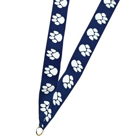 Medallion Neck Ribbon With Paw Design