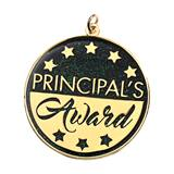Principal's Award Medallion - Gold and Black Stars