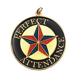 Perfect Attendance Medallion - Colored Star