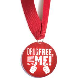 Stock Medallion - Drug Free, That's Me!
