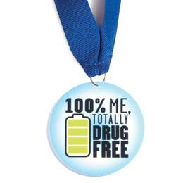 Stock Medallion - 100% Me, Totally Drug Free