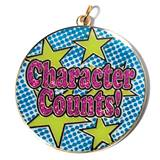 Glitter Medallion - Character Counts