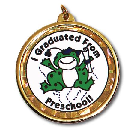 Holographic Medallion - I Graduated From Preschool