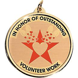 Holographic Medallion - Outstanding Volunteer