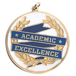 Academic Excellence Blue/Gold Medallion