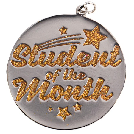 Student of the Month Glitter Medallion