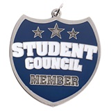 Student Council Shield-shaped Medallion