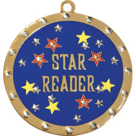 Rhinestone Medallion - Star Reader