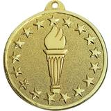 Award Medallion - Gold Torch