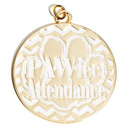 PAWfect Attendance Medallion