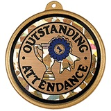 Holographic Medallion - Outstanding Attendance