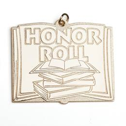 Honor Roll Book Shaped Medallion