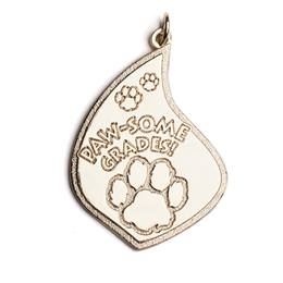 Paw-some Grades Flame-Shaped Medallion