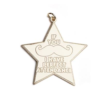 Perfect Attendance Star-Shaped Medallion