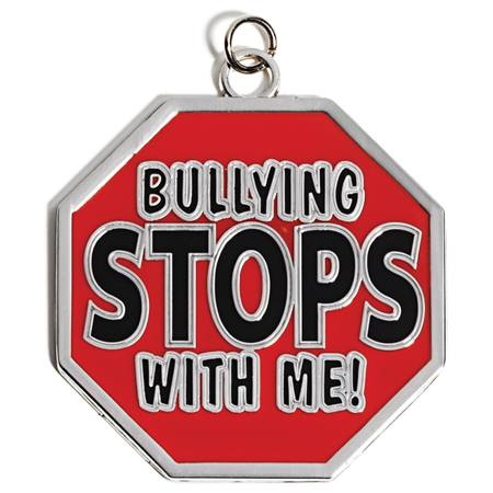 Bullying Stops Shaped Medallion