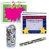 Mega Award Set - Super Student, 180 pieces/set