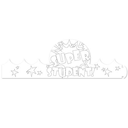 Color-Your-Own Crown - Super Student